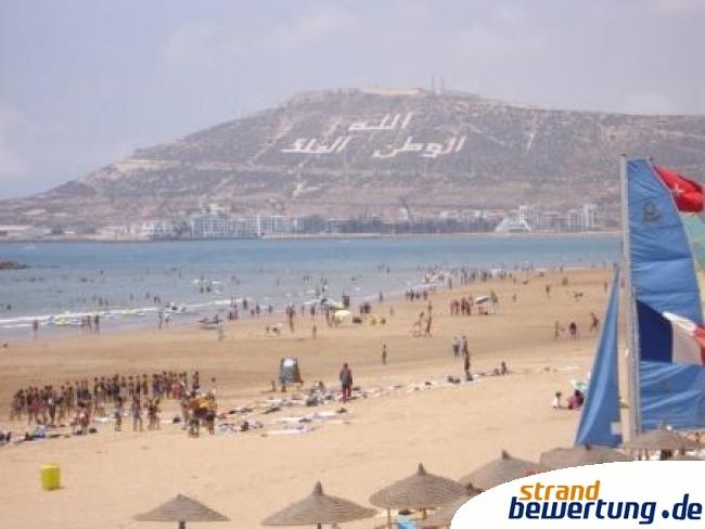 Agadir Am Atlantik In Marokko Gro 223 Er Strand Strandbild