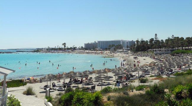 Panorama Vom Nissi Beach Hotelbild Hotel Atlantica Aeneas Resort