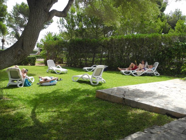 Garten Mit Liegen Ausgestattet Hotelbild Hotel Inturotel Cala