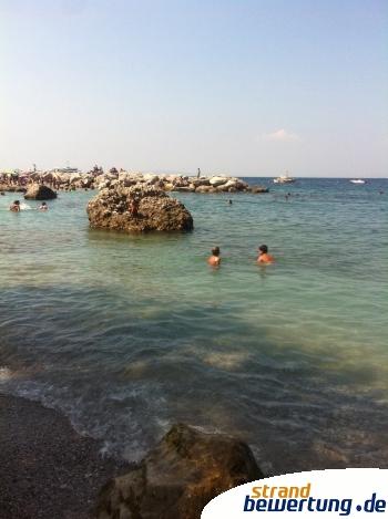 Badebucht bei Marina grande